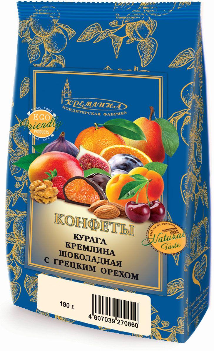 Кремлина Курага в шоколаде с грецким орехом, 190 г