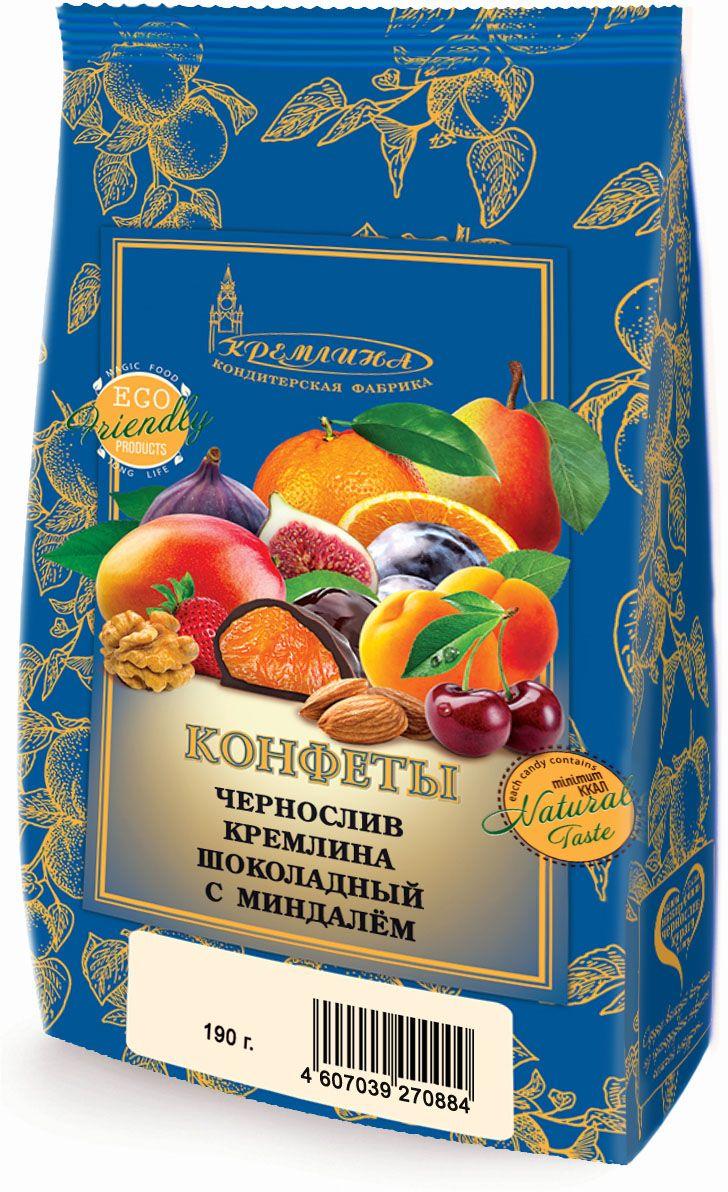 Кремлина Чернослив в шоколаде с миндалем, 190 г