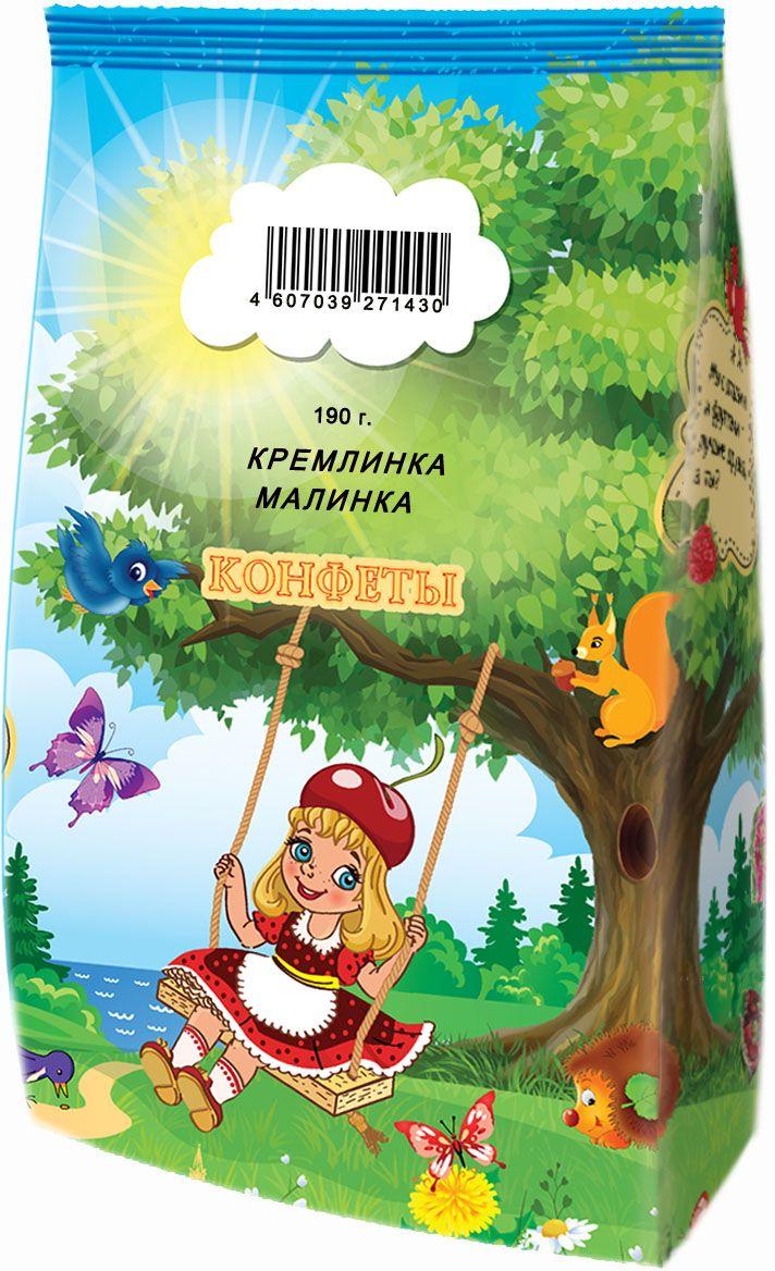 Кремлина Кремлинка Малинка конфеты детские, 190 г