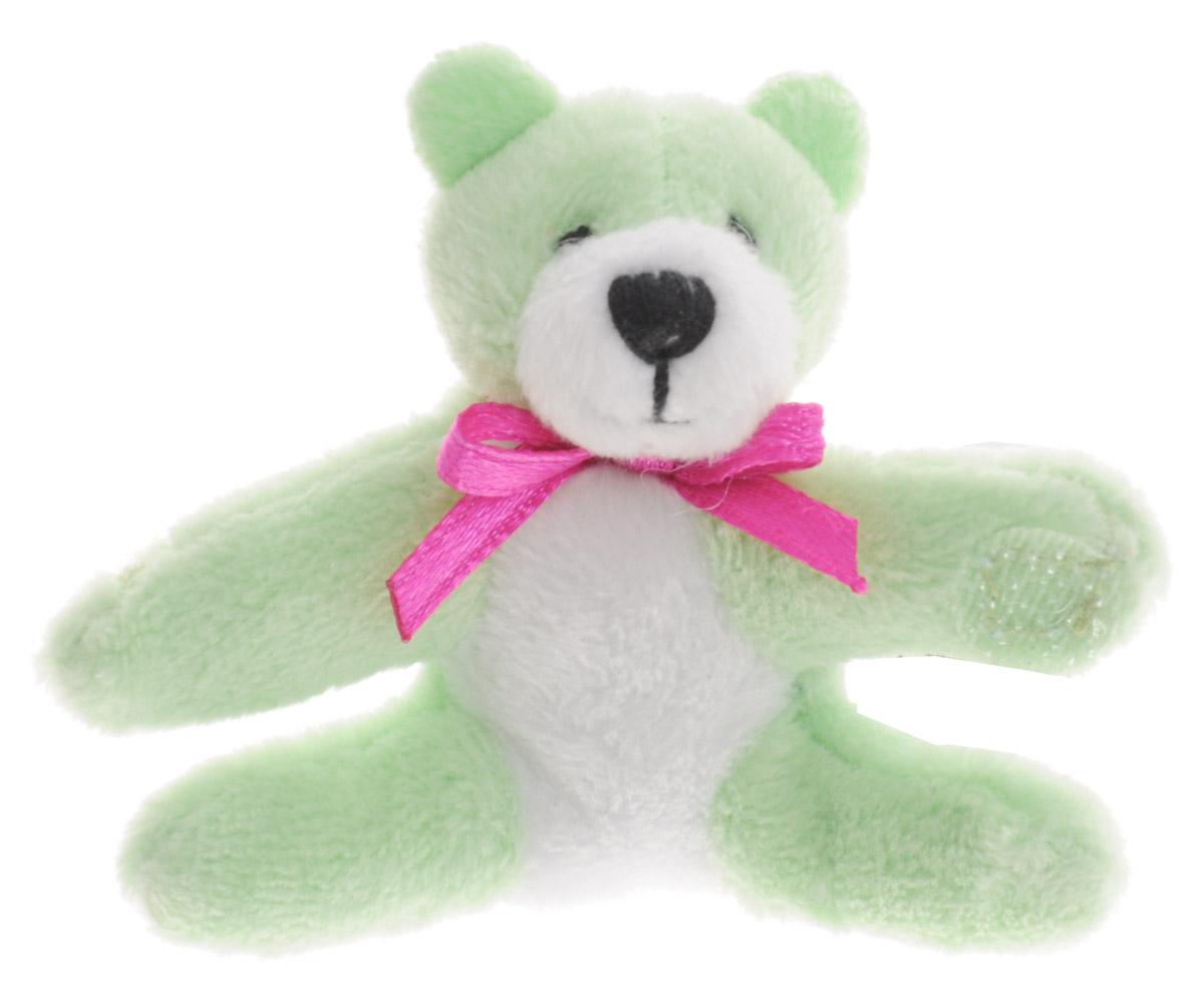 Beanzees Мягкая игрушка Медведь Bella 5 смB31001_3_салатовый медведьСимпатичная миниатюрная мягкая игрушка Beanzees Медведь Bella - это игрушка три в одном. Ее приятно держать в руках, увлекательно коллекционировать, а также эти игрушки можно соединять между собой с помощью липучек и носить как оригинальное украшение на шею или на руку. По легенде эти крошечные животные обитают все вместе в волшебном лесу под названием Бинзилэнд, в котором всегда ярко светит солнышко и цветут цветы. Размер игрушки 5 см, она выполнена из мягкого гипоаллергенного материала, набивка - синтетическое волокно, в том числе специальные пластиковые гранулы, делающие эту игрушку замечательным антистрессом. На лапках медвежонка располагаются маленькие текстильные липучки, с помощью которых игрушку можно соединять с другими.