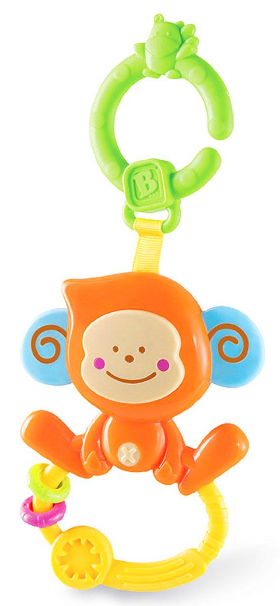 B kids Игрушка-подвеска Веселая обезьянка с колечком004499Игрушка-подвеска B kids Веселая обезьянка с колечком - это удобный прорезыватель с пищалкой и подвесным креплением. Если вы нажмете на мордочку обезьянки, то раздастся писк. На ножках мартышки закреплено колечко с рельефной поверхностью и двумя мини-массажерами для десен. В верхней части игрушки есть крепление в виде кольца, с помощью которого можно зафиксировать игрушку на коляске, автокресле, бортике кроватки и других поверхностях. Для детей от 0 месяцев.