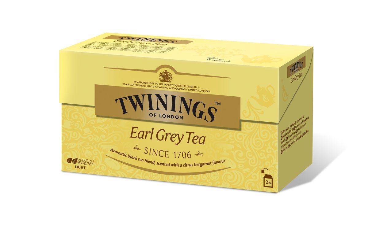 Twinings Earl Grey чай черный в пакетиках, 25 шт02288