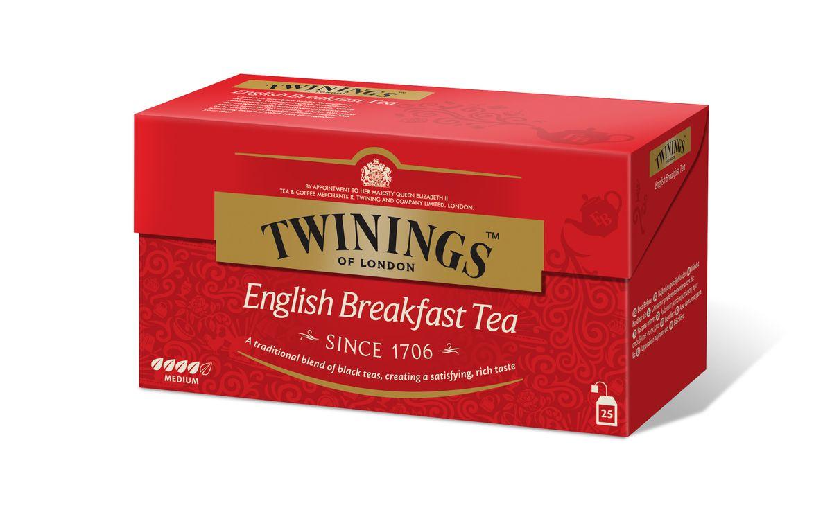 Twinings English Breakfast чай черный в пакетиках, 25 шт01816