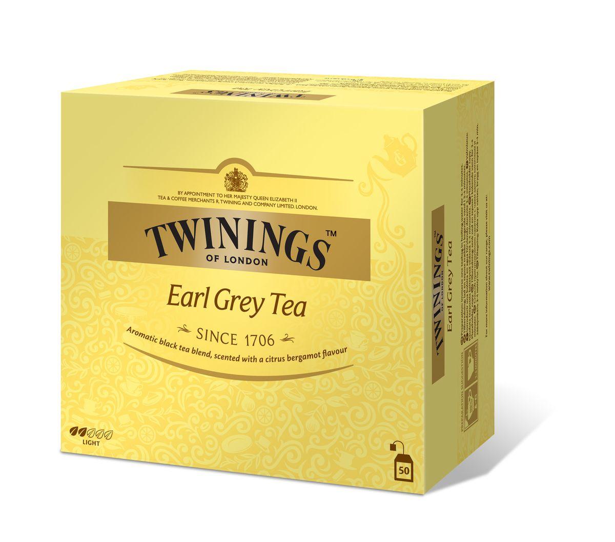 Twinings Earl Grey чай черный в пакетиках, 50 шт701159