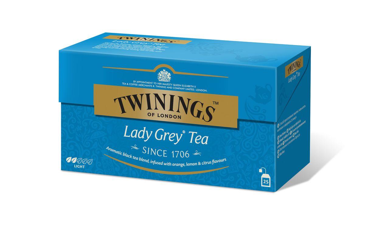 Twinings Lady Grey чай черный в пакетиках, 25 шт02103