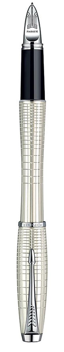 Parker Ручка-роллер Urban Premium Pearl Metal Chiselled цвет корпуса перламутровыйPARKER-S0976030Ручка-роллер с черными чернилами Parker Urban Premium Pearl Metal Chiselled сочетает в себе высокую функциональность и потрясающе красивый дизайн. Изящная ручка выполнена в роскошном цвете перламутр с оригинальными геометрическими линиями, которые придают этой модели еще больше элегантности. Блеск хромированных деталей подчеркивает безупречное качество и великолепное исполнение ручки. Стильный и характерный для продукции Parker клип в виде стрелы делает роллер Urban Premium просто неотразимым и всегда узнаваемым. Корпус ручки изготовлен из высококачественной нержавеющей стали, которая способна выдержать серьезные механические воздействия. Такую ручку можно носить с собой, активно ее эксплуатировать и не бояться, что с ней что-то случится. Ручка-роллер упакована в фирменный футляр с логотипом компании Parker. В футляре предусмотрено дополнительное отделение, в котором расположен международный гарантийный талон и стержень. Ручка Parker Urban Premium Pearl...