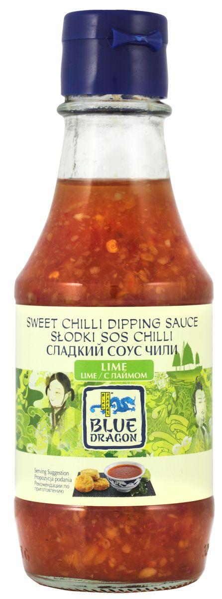 Blue Dragon Сладкий соус чили с лаймом, 190 мл020769В качестве дип-соуса незаменим для: спринг-роллов, снеков, тайских рыбных котлет. Идеален с креветками в кляре или с овощами (завернуть в фольгу и запекать в духовке).