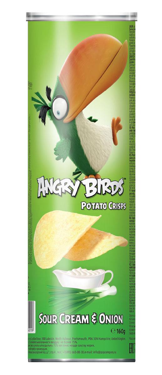 Angry Birds чипсы со вкусом сметаны и лука, 160 г