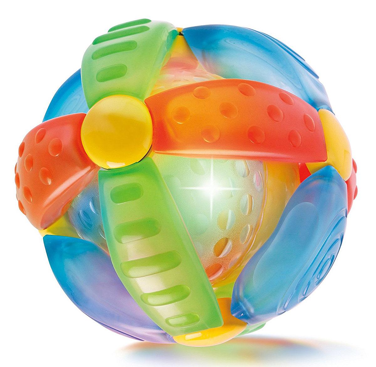 B kids Развивающая игрушка Шар-цветок004341BИгрушка Шар-цветок от B kids - это красивый развивающий мяч со световыми и звуковыми эффектами. Оригинальная концепция этого шара от B kids заключается в том, что чем сильнее вы трясете (чем быстрее катаете) мяч, тем интенсивнее мигают в нем лампочки и громче звучит музыка. Игрушка B kids поможет ребенку в развитии цветового и звукового восприятия, мелкой моторики рук и координации движений. Такую игрушку можно предложить ребенку в возрасте старше 6 месяцев. Для работы игрушки вам потребуется 3 батарейки LR44 (комплектуется демонстрационными).