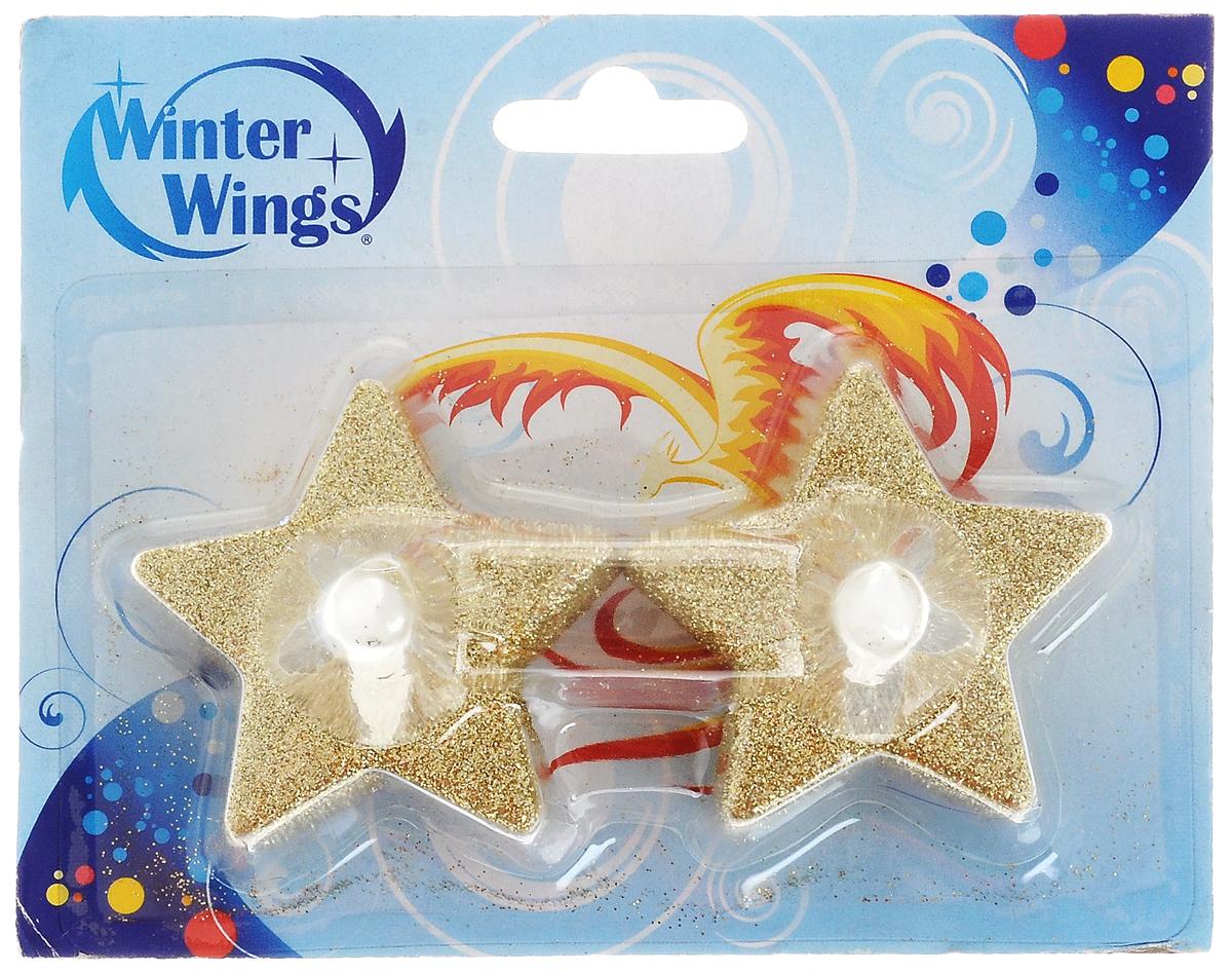 Набор свечей Winter Wings Звезда. Led, 2 штN161725Набор Winter Wings Звезда. Led состоит из 2 декоративных свечей. Изделия выполнены из пластика с блестками. Такой набор можно использовать в декоре интерьера. Для работы свечи требуется 1 батарейка типа CR 2032. Выньте пластиковый протектор перед 1 применением. При необходимости батарейка может быть заменена. Для этого откройте крышку на основании свечи, поместите батарейку согласно знакам +/-, зафиксируйте крышку. Высота: 5 см. Размер: 5 х 5 см.