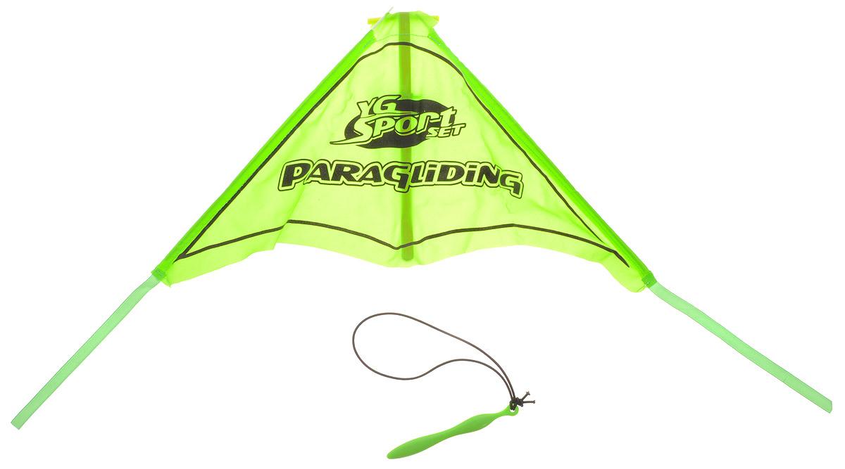 YG Sport Игровой набор Планер цвет зеленыйYG08YИгровой набор YG Sport Планер - это замечательная игрушка для активных ребят. Набор изготовлен из прочного пластика, имеет очень простую конструкцию, внешне и по принципу работы напоминает воздушного змея. В набор включено пусковое устройство, благодаря которому планер запускается в полет, словно из рогатки. Также к нему цепляется фигурка храброго пилота, выполненная из пластика. Игрушка легкая, компактно складывается для простоты переноски, что очень важно для детишек, которые не сидят на месте ни минуты.
