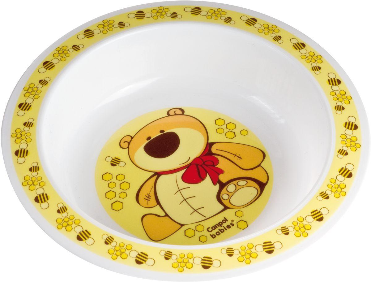 Canpol Babies Тарелка для кормления цвет желтый