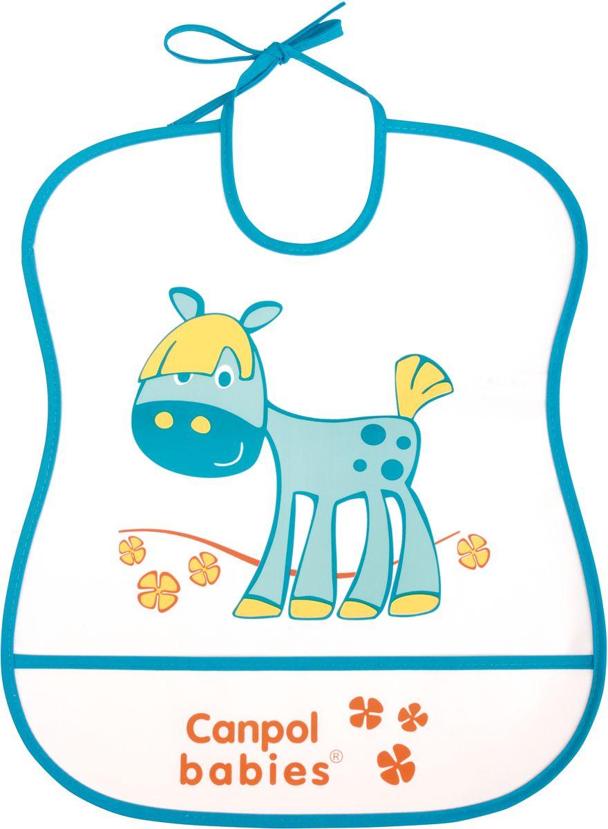 Canpol Babies Нагрудник Лошадка250930230Бренд Canpol babies уже более 25 лет помогает мамам во всем мире растить своих малышей здоровыми и счастливыми. Мягкий пластиковый нагрудник выполнен из полностью безопасных материалов. Завязки позволяют самостоятельно регулировать нужное положение нагрудника на шее малыша. Имеется карман, который отлично собирает остатки пищи и предотвращает загрязнение одежды.