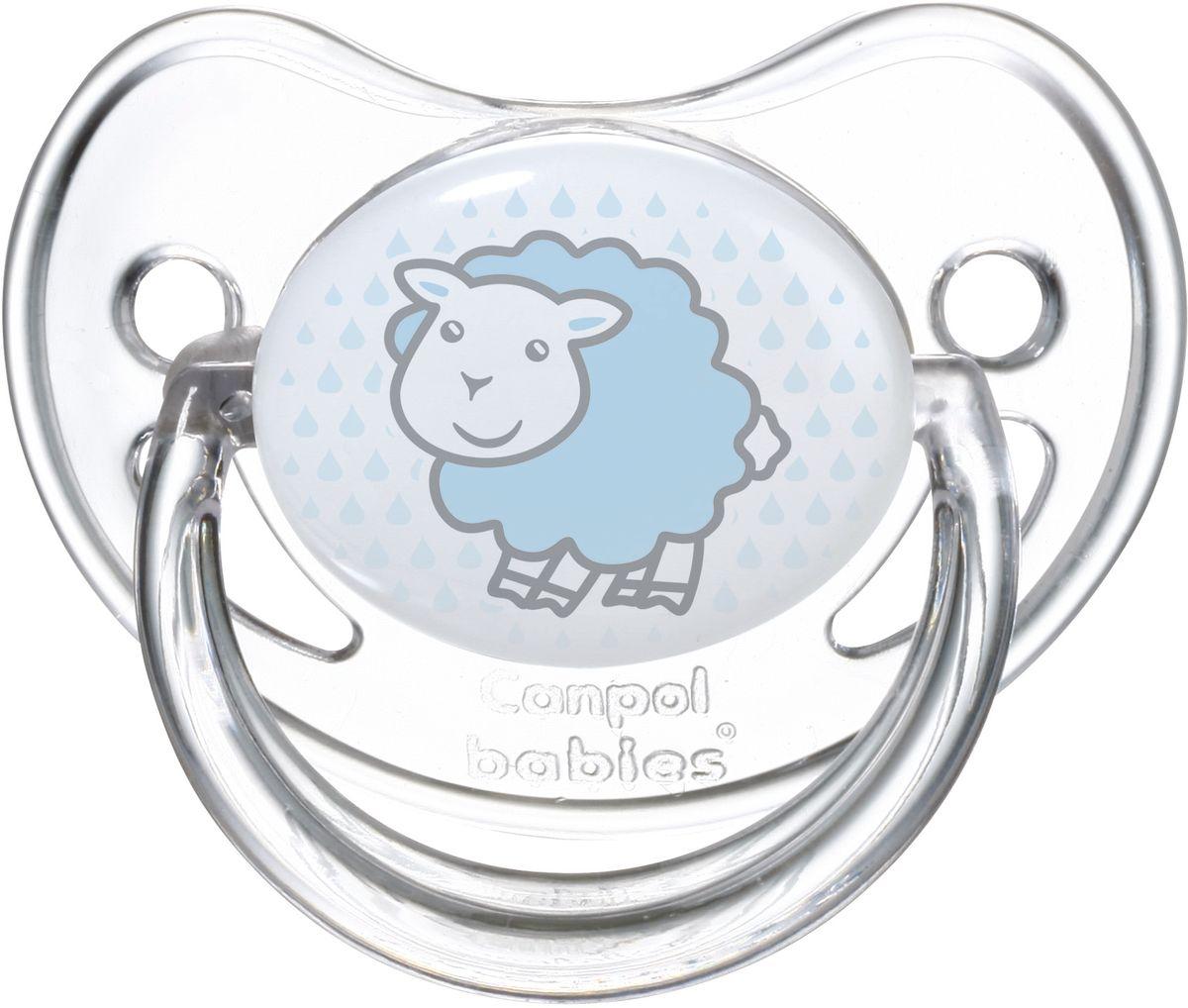 Canpol Babies Пустышка силиконовая от 0 до 6 месяцев Transparent рисунок овечка