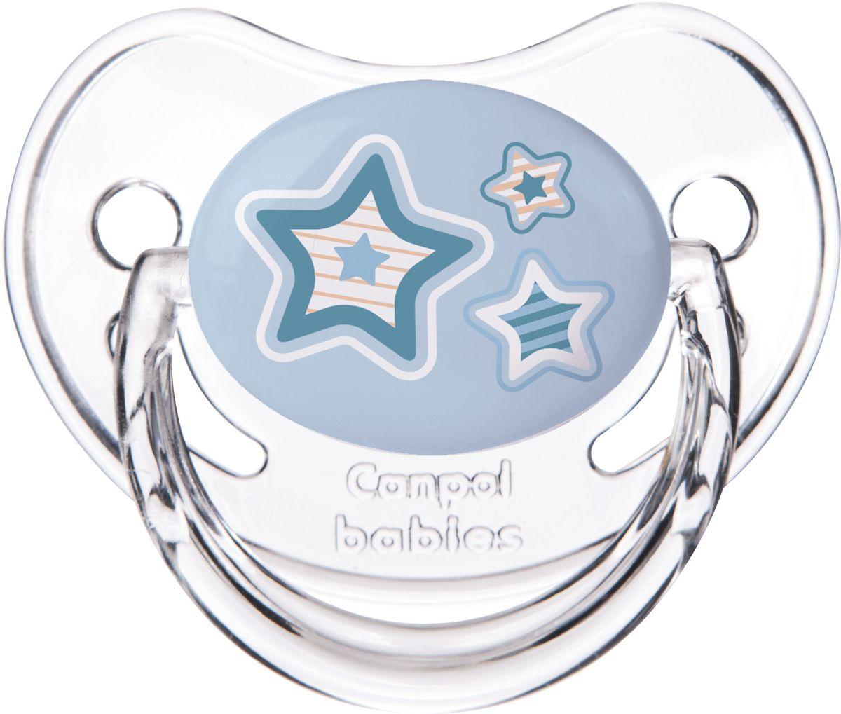 Canpol Babies Пустышка силиконовая Newborn Baby от 0 до 6 месяцев цвет голубой