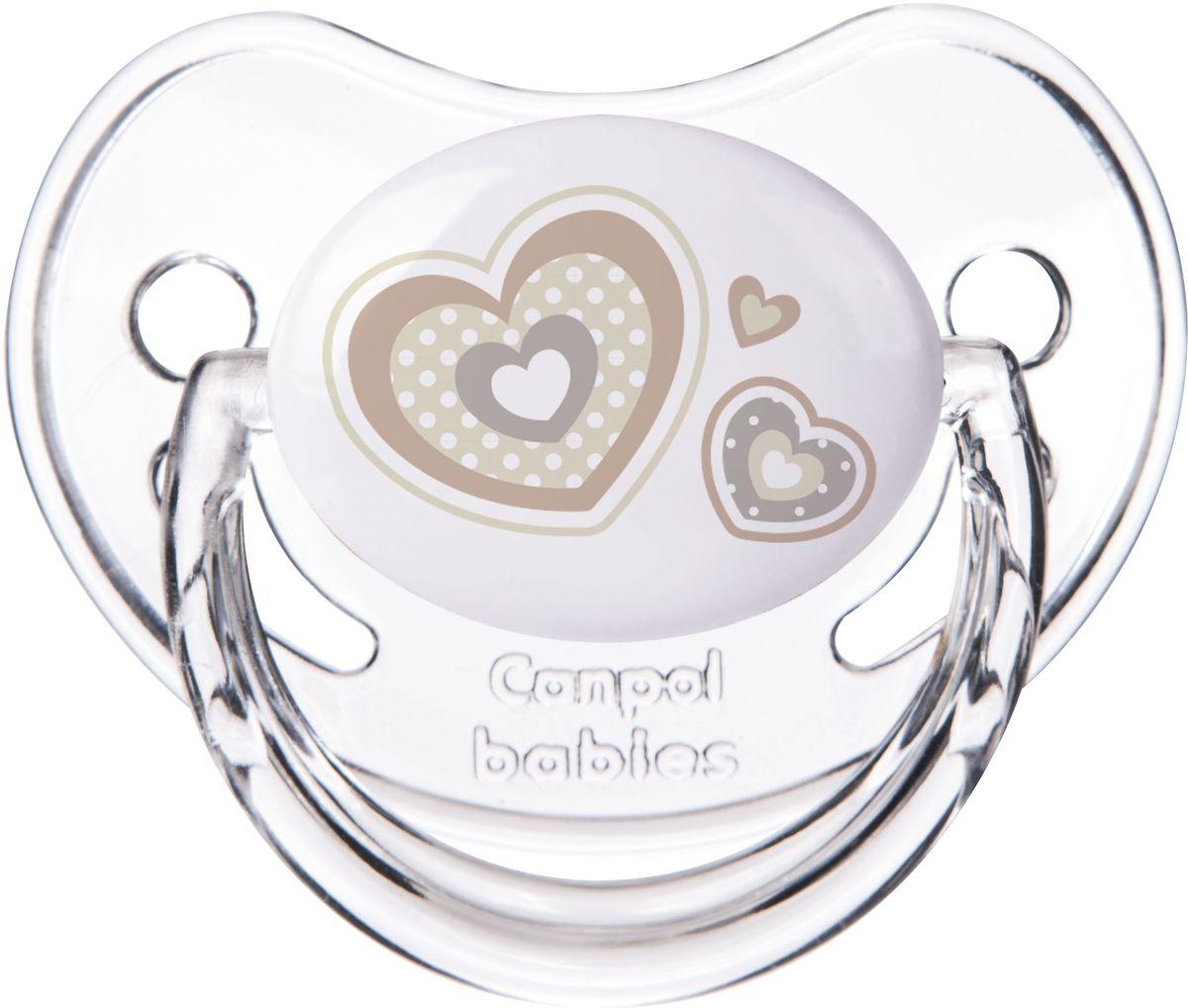 Canpol Babies Пустышка силиконовая Newborn Baby от 0 до 6 месяцев цвет белый