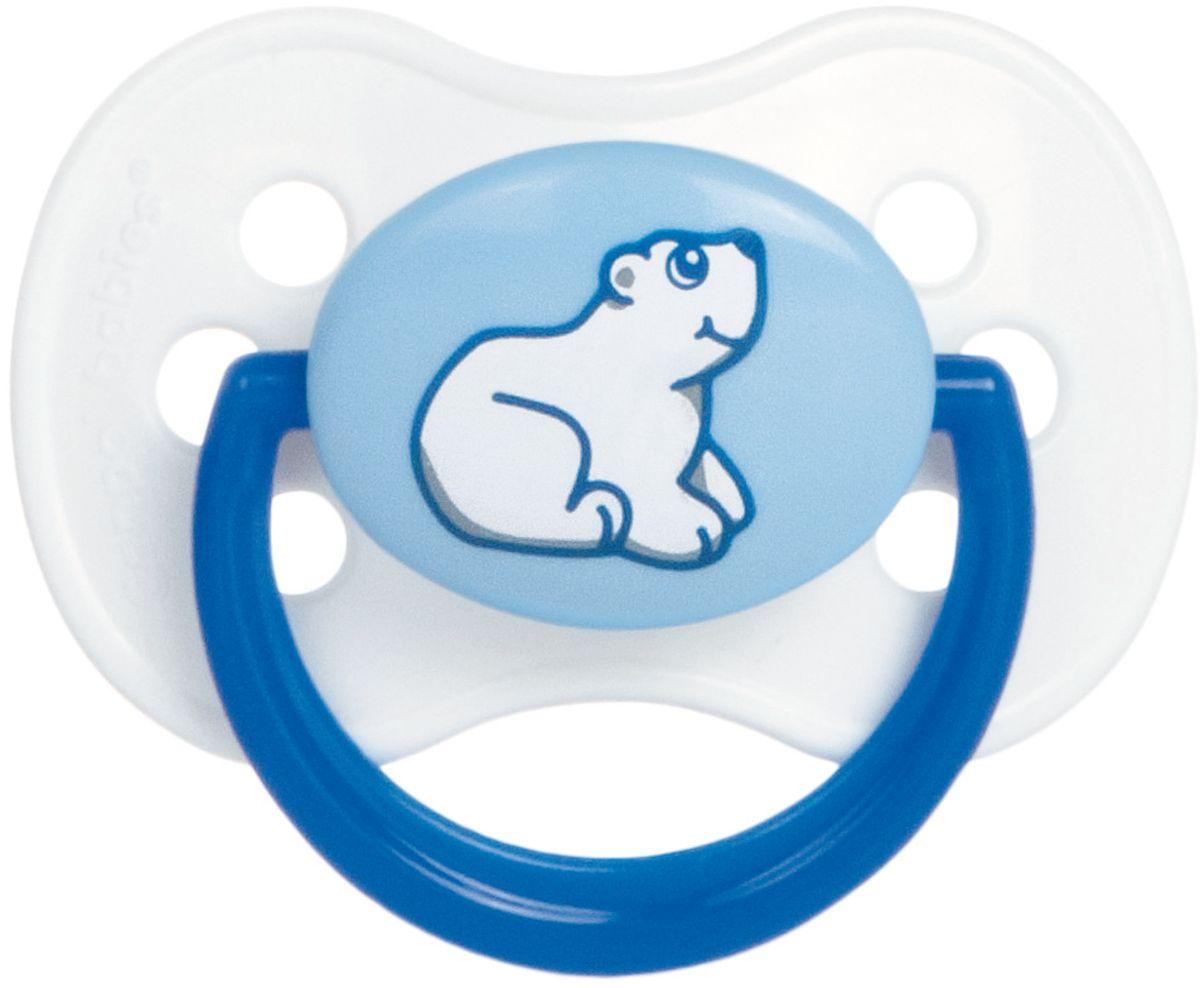 Canpol Babies Пустышка латексная от 0 до 6 месяцев Animals цвет синий