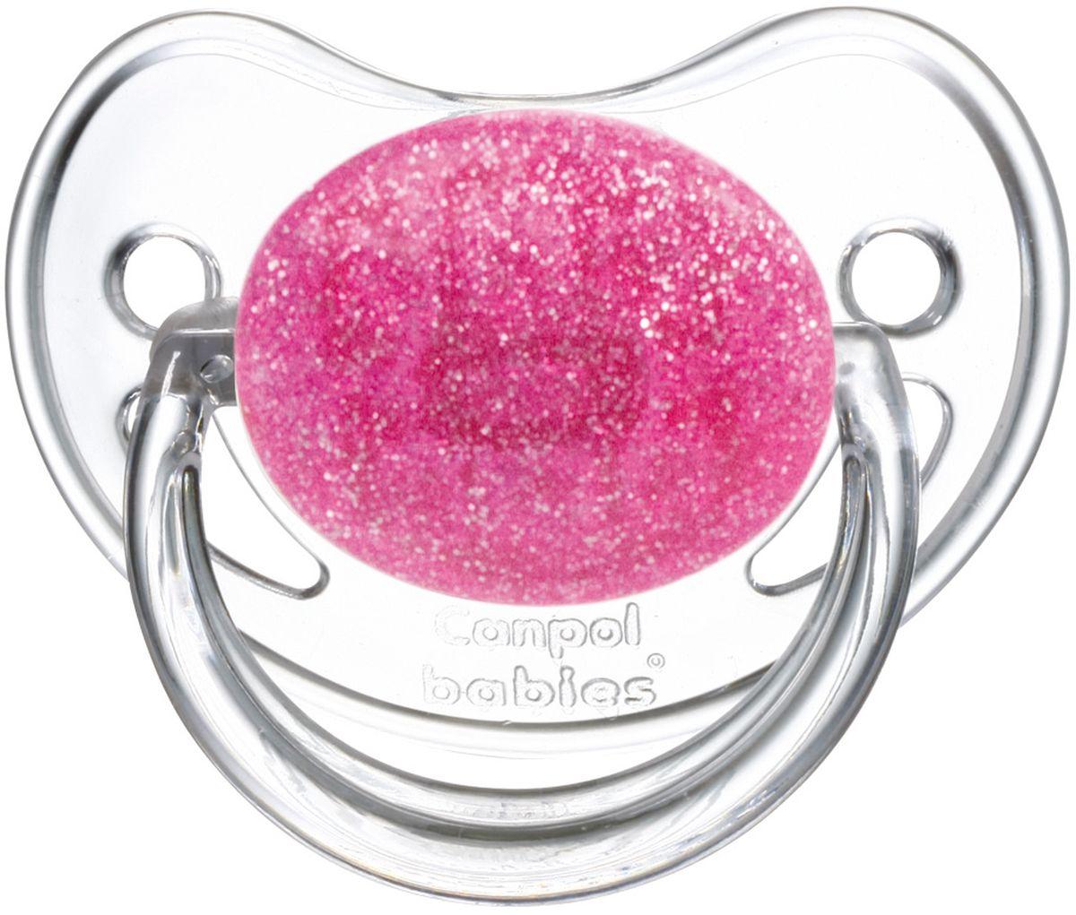 Canpol Babies Пустышка латексная от 0 до 6 месяцев Moonlight цвет розовый
