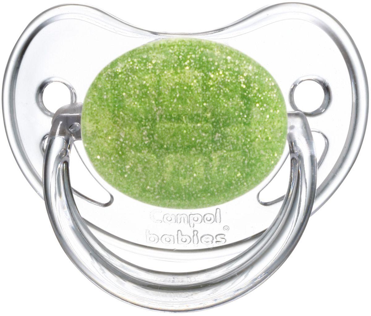 Canpol Babies Пустышка латексная от 6 до 18 месяцев Moonlight цвет зеленый