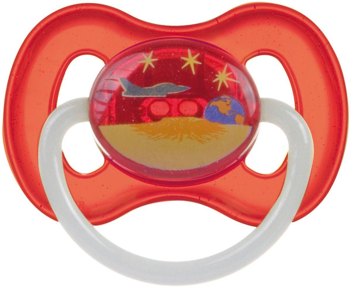 Canpol Babies Пустышка латексная от 6 до 18 месяцев Space цвет красный