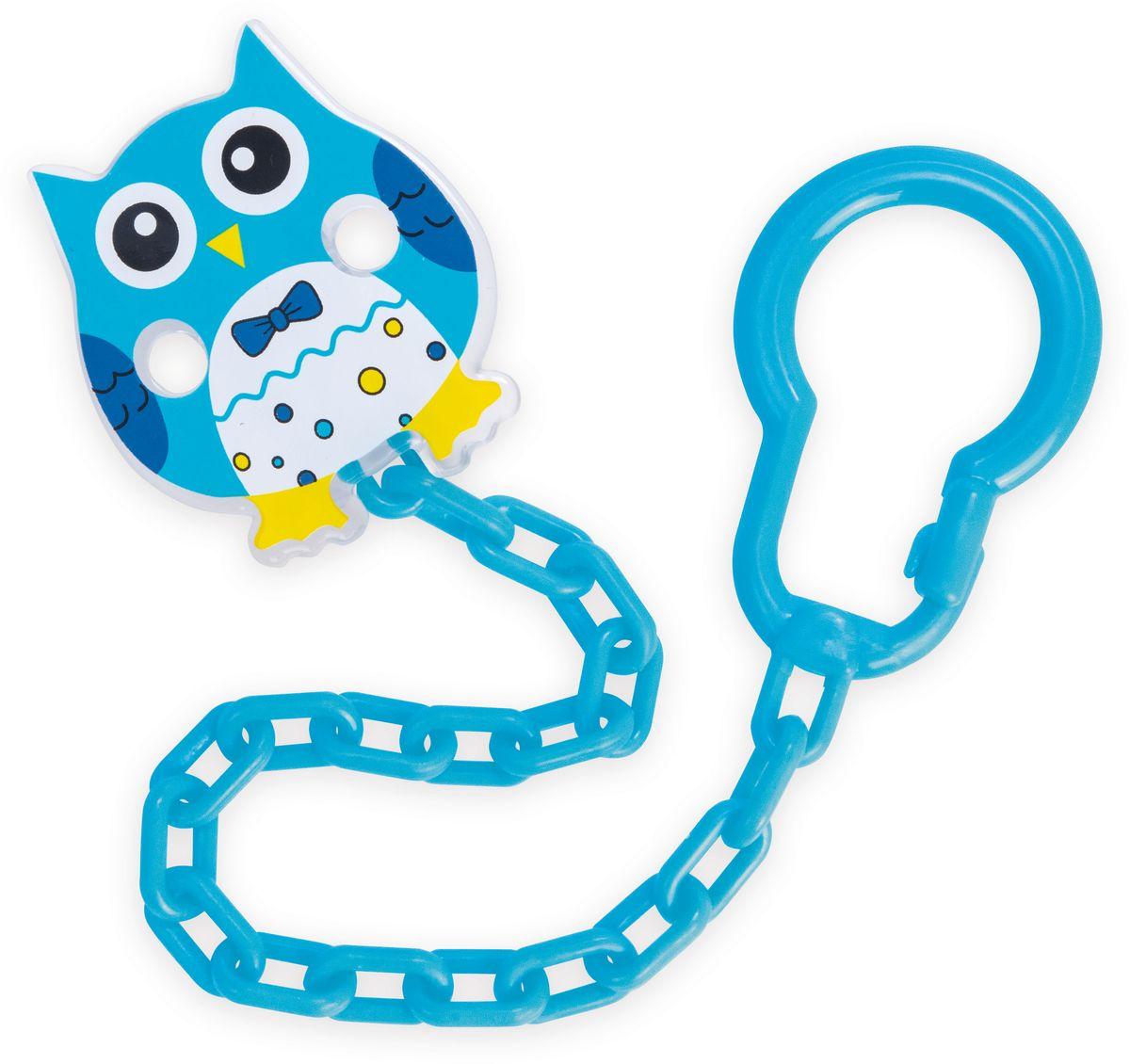 Canpol Babies Клипса-держатель для пустышки Сова цвет синий