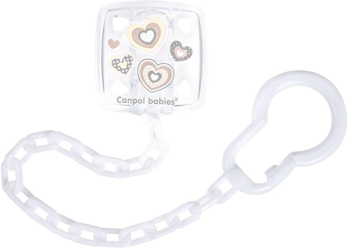 Canpol Babies Клипса-держатель для пустышки Newborn Baby цвет белый