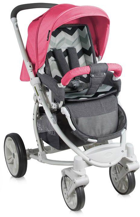 Lorelli Коляска прогулочная S-700 цвет розовый серый