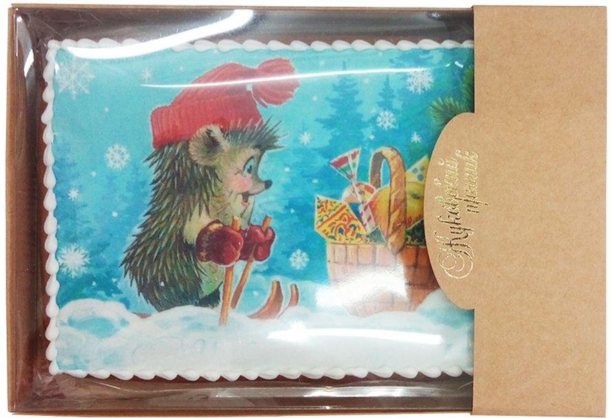 Жуковский пряник Волшебное время00-00001454Медово-имбирный пряник с росписью из айсинга, фотопечатью на сахарной бумаге. Отличный подарок на Новый год