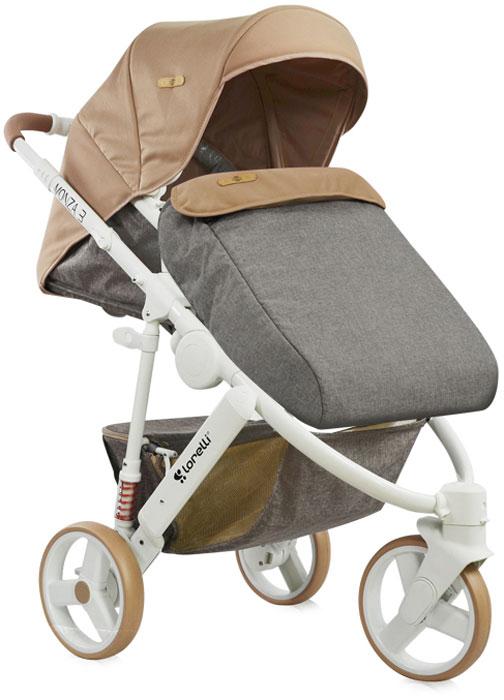 Lorelli Коляска универсальная 2 в 1 Monza-3 цвет бежевый3800151906995Универсальная модель коляски Lorelli Monza-3 - это идеальное приобретение для тех, кто ценит надежные, практичные вещи. Изделие удачно совмещает в себе комфортную для крохи закрытую люльку и прогулочный блок, в котором в последующем размещается более взрослый ребенок. Для этой коляски характерна очень хорошая маневренность. Размеры ее компактны, а механизм складывания абсолютно прост. Обивка сделана из мягких и приятных на ощупь материалов. Они обладают гипоаллергенными свойствами и делают прогулки малыша еще более комфортными. Коляска облегченной конструкции и современного дизайна проста в управлении благодаря передним поворотным колесам. Многопозиционная спинка с возможностью полного горизонтального положения. Сиденье можно установить в двух положениях: лицом к маме либо по направлению движения. Предусмотрены задние амортизаторы, удобная телескопическая ручка, регулируемая подножка. В комплект входят сумка для мамы, чехол на ножки и большая корзина для покупок,...