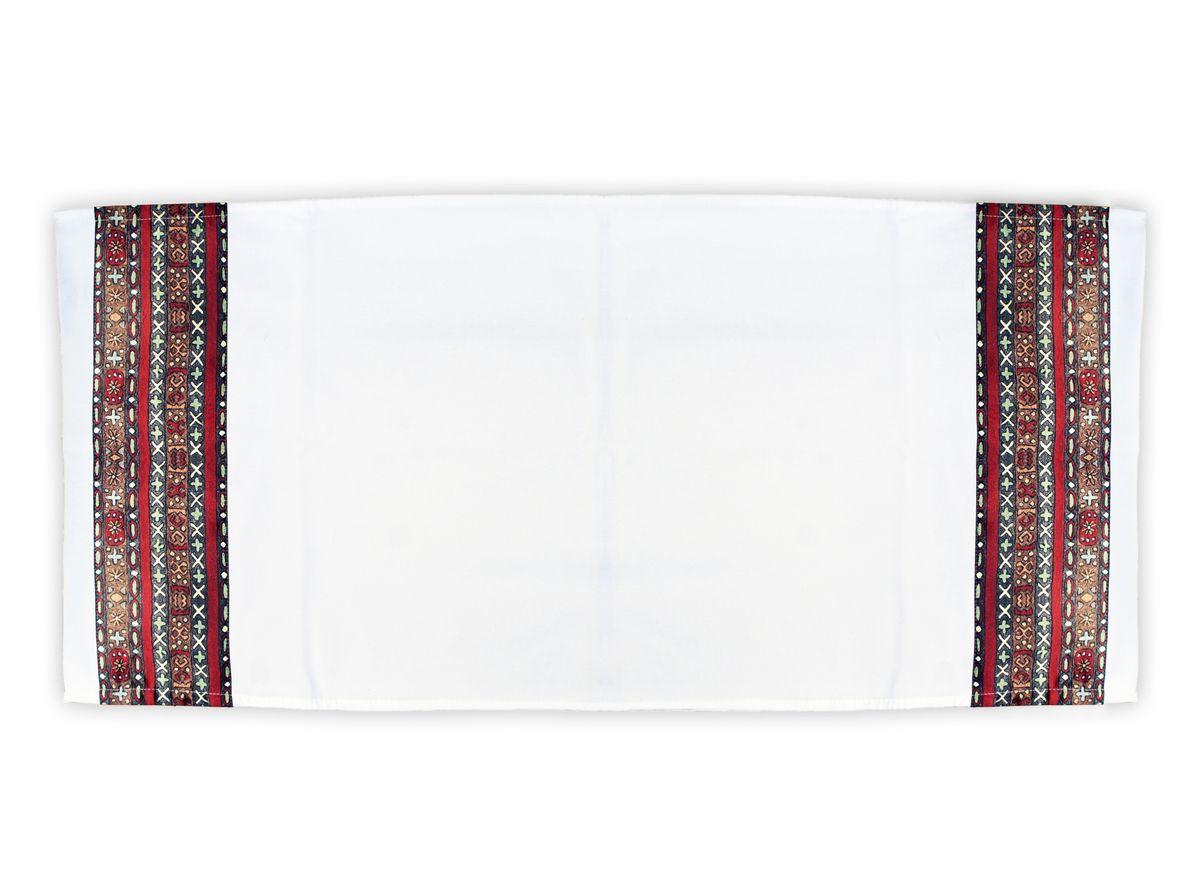 Рушник GiftnHome Этнический узор, 43 х 91 смTWL-ЭтникРушник изготовлен из натурального материала Молескин - прочная хлопчатобумажная ткань, очень приятная и мягкая на ощупь! Декор выполнен из атласа(искусственный шелк)