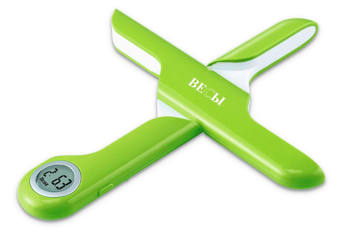 """Весы кухонные """"Весы"""", электронные, пластиковые, цвет: салатовый. ЕК2520G"""