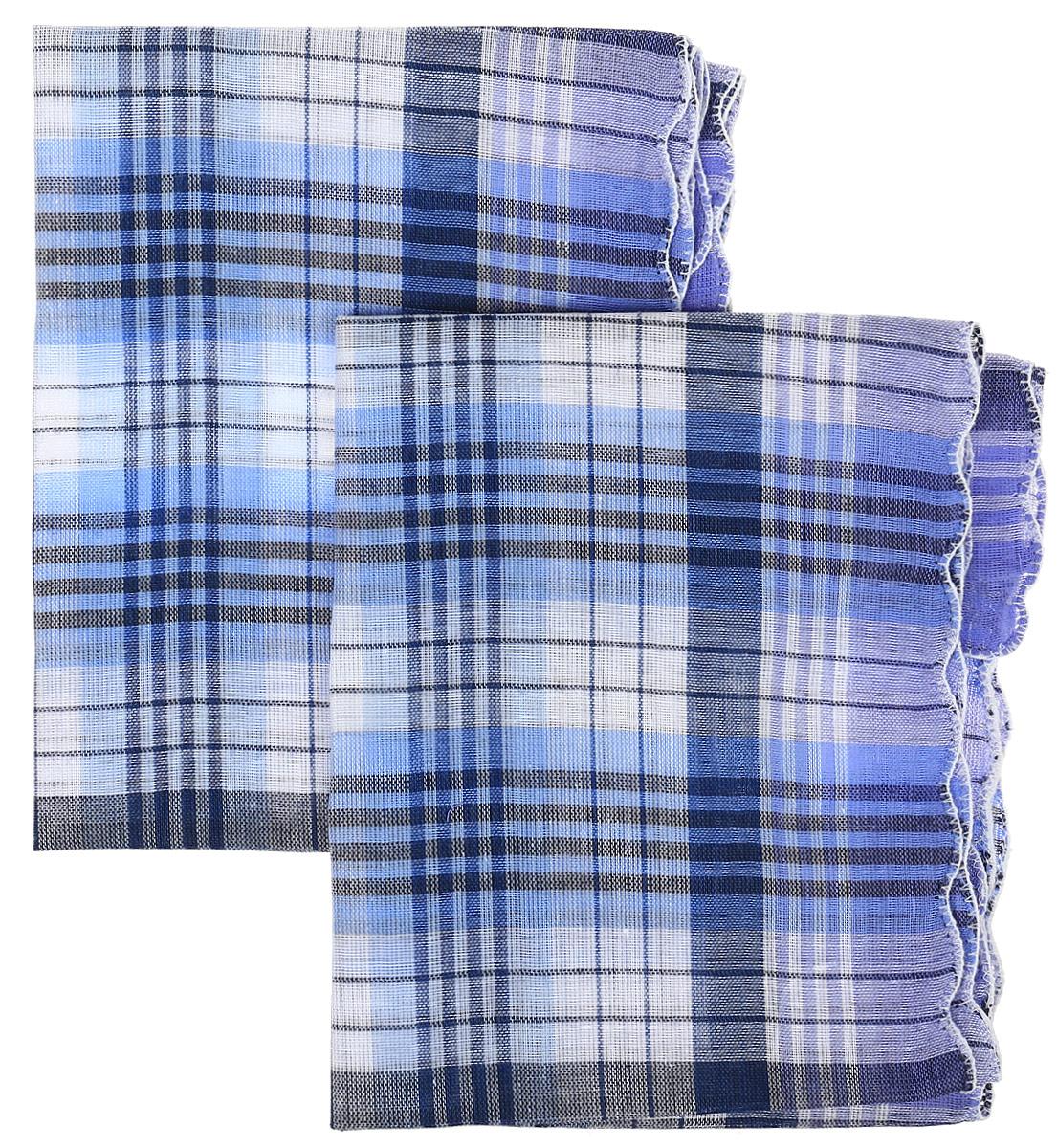 Платок носовой женский Zlata Korunka, цвет: синий, голубой, 4 шт. 71417. Размер 27 х 27 см71417_синий, голубой_клеткаЖенские носовые платки Zlata Korunka изготовлены из натурального хлопка, приятны в использовании, хорошо стираются, материал не садится и отлично впитывает влагу. В упаковке 4 штуки.