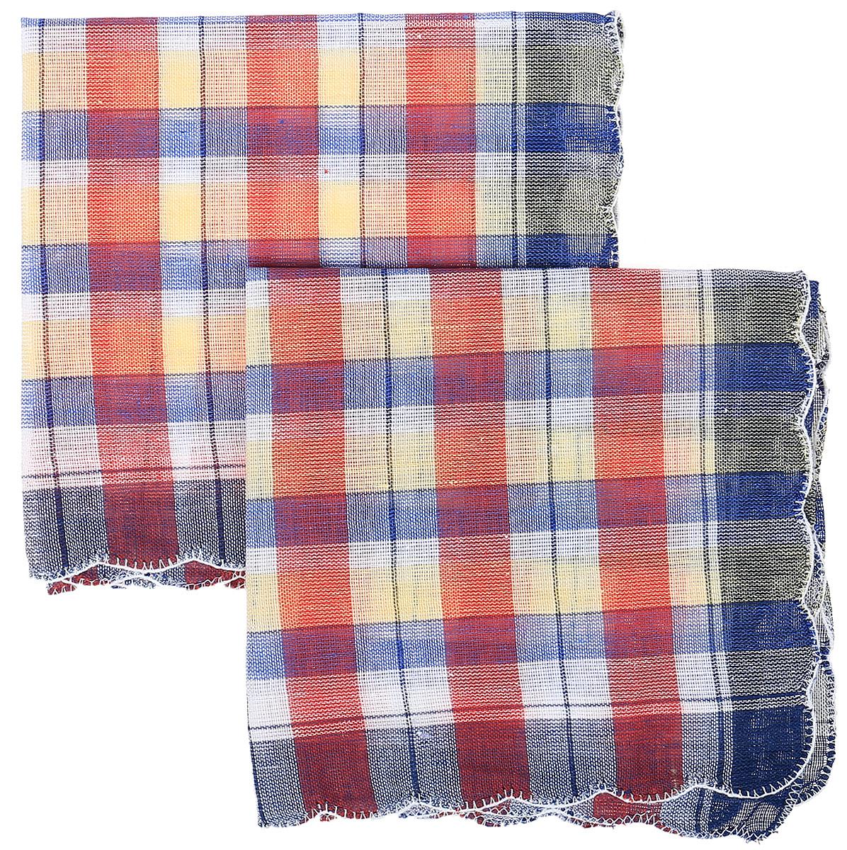 Платок носовой женский Zlata Korunka, цвет: синий, красный, желтый, 4 шт. 71417. Размер 27 х 27 см71417_синий, красный, желтыйЖенские носовые платки Zlata Korunka изготовлены из натурального хлопка, приятны в использовании, хорошо стираются, материал не садится и отлично впитывает влагу. В упаковке 4 штуки.