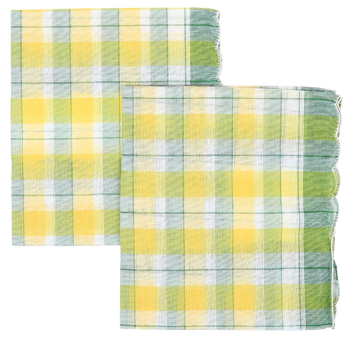 Платок носовой женский Zlata Korunka, цвет: желтый, зеленый, 4 шт. 71417. Размер 27 х 27 см71417_желтый, зеленыйЖенские носовые платки Zlata Korunka изготовлены из натурального хлопка, приятны в использовании, хорошо стираются, материал не садится и отлично впитывает влагу. В упаковке 4 штуки.