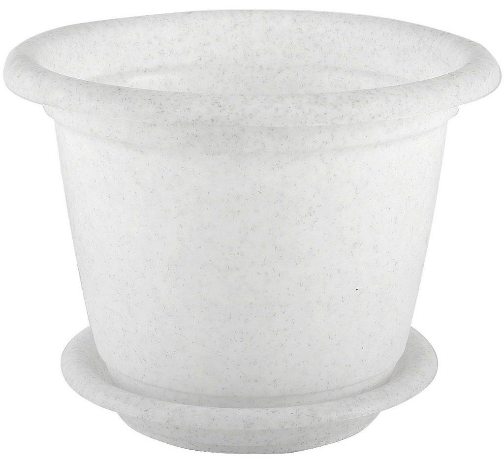 Кашпо Idea Ламела, с поддоном, цвет: мраморный, 12 лМ 8205Кашпо Idea Ламела изготовлено из высококачественного пластика. Специальный поддон предназначен для стока воды. Изделие прекрасно подходит для выращивания растений и цветов в домашних условиях. Лаконичный дизайн впишется в интерьер любого помещения. Диаметр поддона: 28 см. Объем кашпо: 12 л. Диаметр кашпо по верхнему краю: 33 см.
