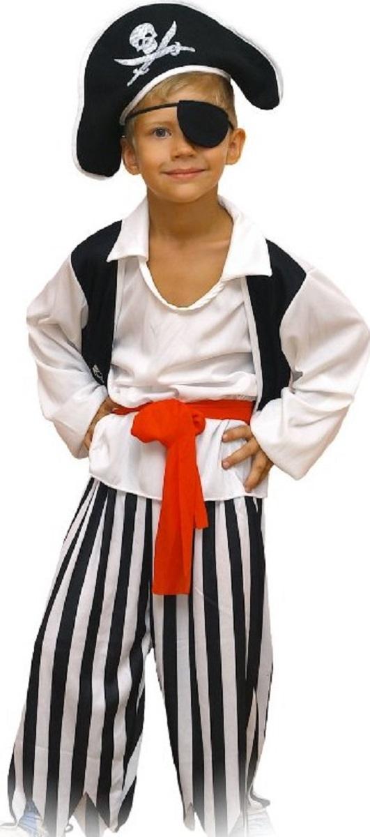 Карнавалия Карнавальный костюм для мальчика Пират размер 12285127Готовитесь к сказочной постановке, утреннику или карнавалу? Карнавальный костюм для мальчика Карнавалия Пират позволит воплотить сказочный образ пирата с максимальной достоверностью. Костюм состоит из шляпы, повязки, рубашки, пояса и штанов. Выполнен костюм из качественного 100% полиэстера. Рост ребенка - 122 см. Яркий, удобный костюм станет отличным выбором для костюмированного мероприятия.