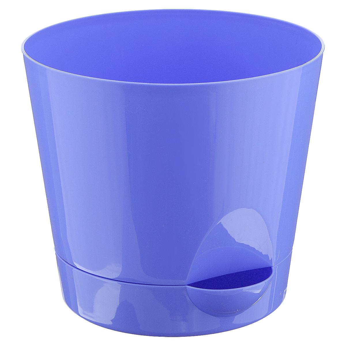 "Idea (М-пластика) Кашпо Idea ""Ника"", с прикорневым поливом, с поддоном, цвет: сиреневый, 2,7 л М 3073"