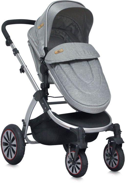 Lorelli Коляска-трансформер Aurora Paris цвет серый надувные колеса