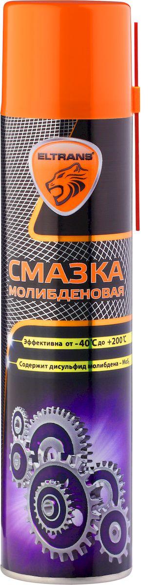 Смазка молибденовая Eltrans, 400 млEL-0505.01Смазка молибденовая Eltrans обеспечивает эффективную и долговечную работу разного рода механизмов, работающих при повышенных нагрузках и в условиях возможного загрязнения пылью, грязью, осадками. Обладает двойным смазывающим действием - наличие дисульфида молибдена гарантирует сохранение смазывающих свойств даже в тех случаях, когда сама смазка уже истощена или выработалась при высоких температурах. Улучшает скольжение и защищает от износа различные детали (открытые шестерни, цепи, эксцентрики, направляющие, тросы, задвижки, шарниры, звездочки, элементы подъемно-транспортного оборудования). Устраняет скрип, предохраняет от ржавчины и коррозии, устойчива к солевым растворам и кислотным осадкам. Сохраняет неизменными смазывающие свойства в диапазоне температур от -40°С до +200°С. Товар сертифицирован.
