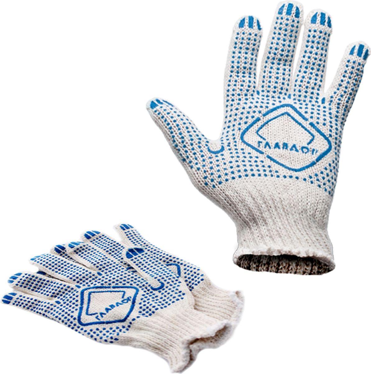 Перчатки защитные Главдор, из 4-х ниток, цвет: белый в точку. GL-106GL-106Классические перчатки для проведения ремонтных и прочих работ, для защиты рук от загрязнений.