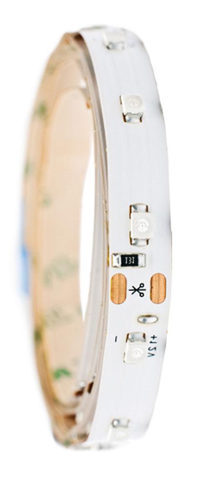 Светодиодная лента Главдор, 300 мм, белая. GL-124GL-124Гибкая, светодиодная лента. Фиксируется с помощью духстороннего скотча. Длина 300 мм. Белый источник света.