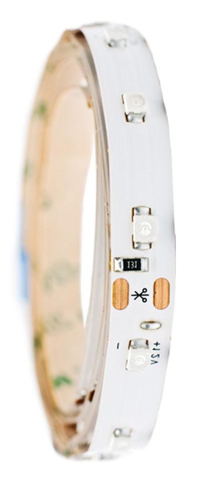 Лента светодиодная Главдор, цвет: красный, 600 ммGL-128Гибкая светодиодная лента для декоративной подсветки фиксируется с помощью двухстороннего скотча. Питание: 12В. Длина: 600 мм. Красный источник света.