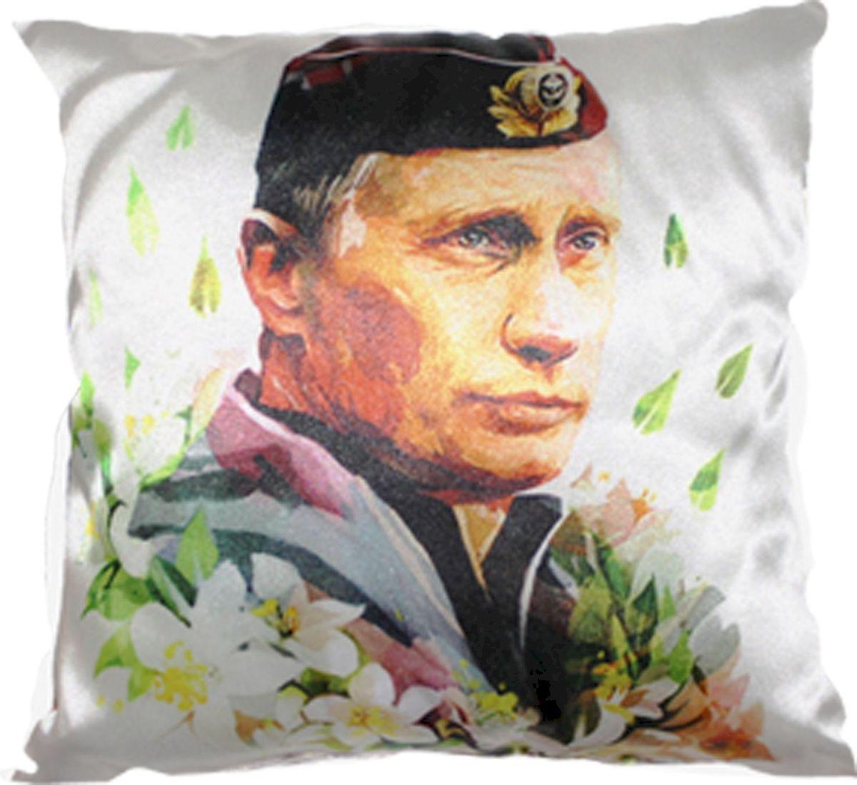 Подушка автомобильная Главдор Путин в пилотке, 30х30 см. GL-151GL-151Декоративные подушки c апликацией в салон автомобиля.