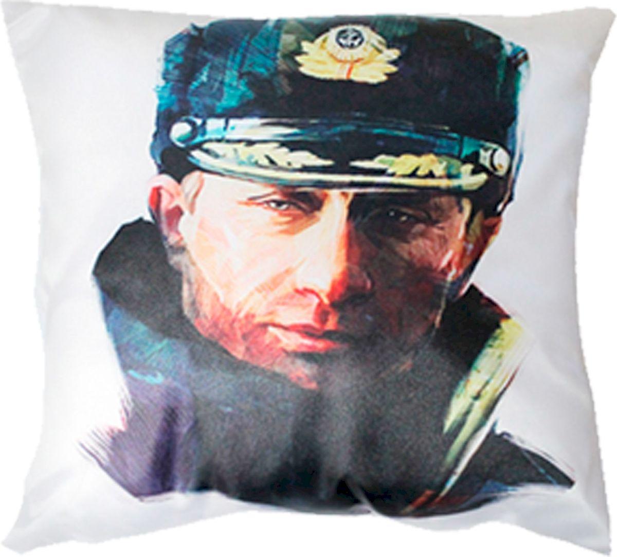 Подушка автомобильная Главдор Путин. Герб России, 30х30 см. GL-271