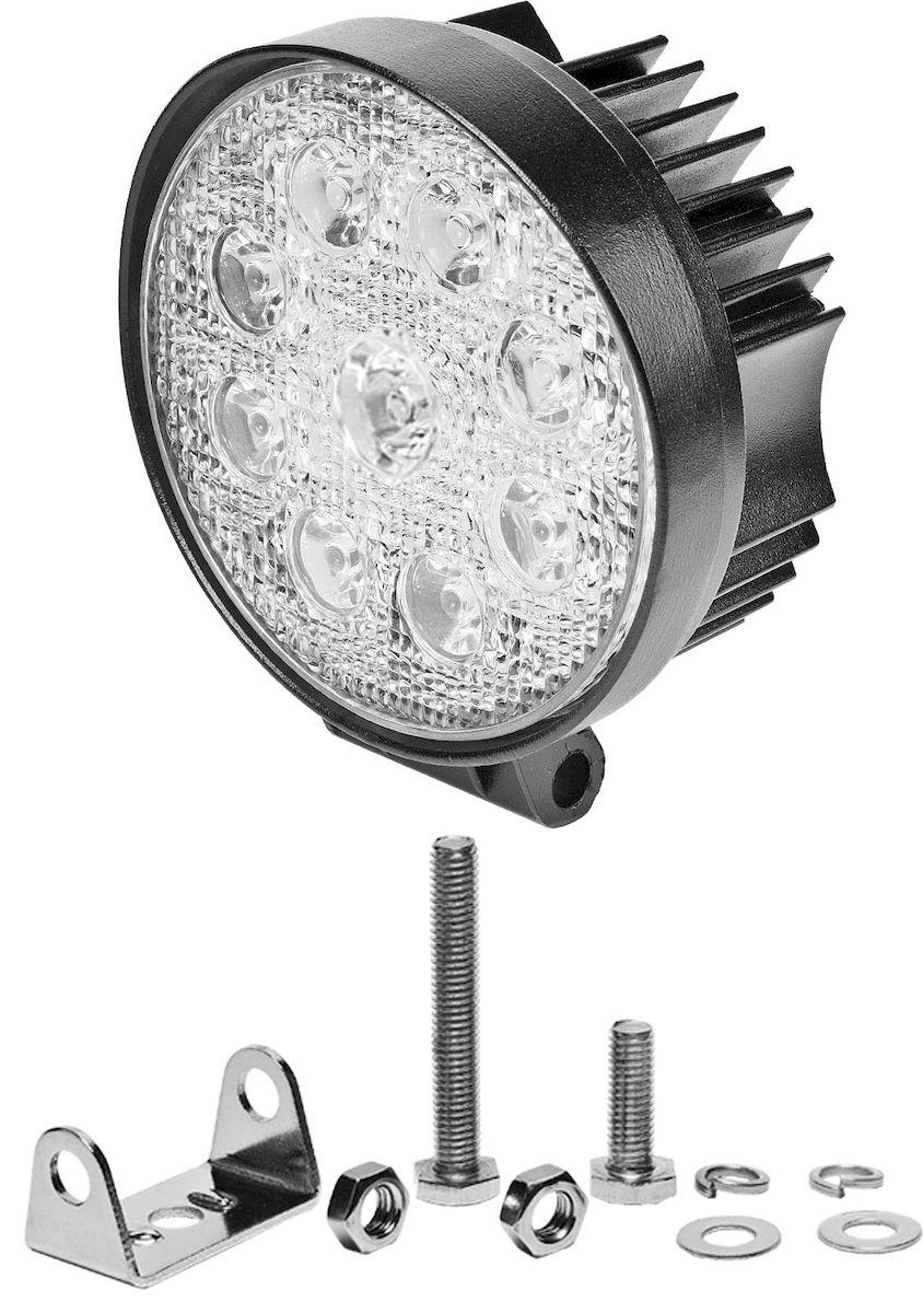 Фара светодиодная дополнительная Главдор SPOT-R 27W 9 диодов, 12/24В, 115х50х115мм. GL-407GL-407Дополнительный источник освещения в металлическом корпусе, на основе светодиодных источников света. Крепление в комплекте.