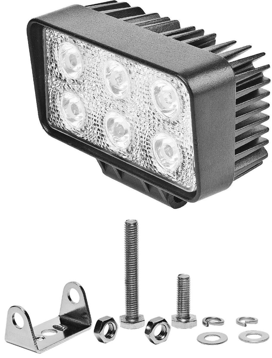 Фара светодиодная дополнительная Главдор SPOT-S 18W 6 диодов, 12/24В, 115х50х65 мм. GL-409GL-409Дополнительный источник освещения в металлическом корпусе, на основе светодиодных источников света. Крепление в комплекте.