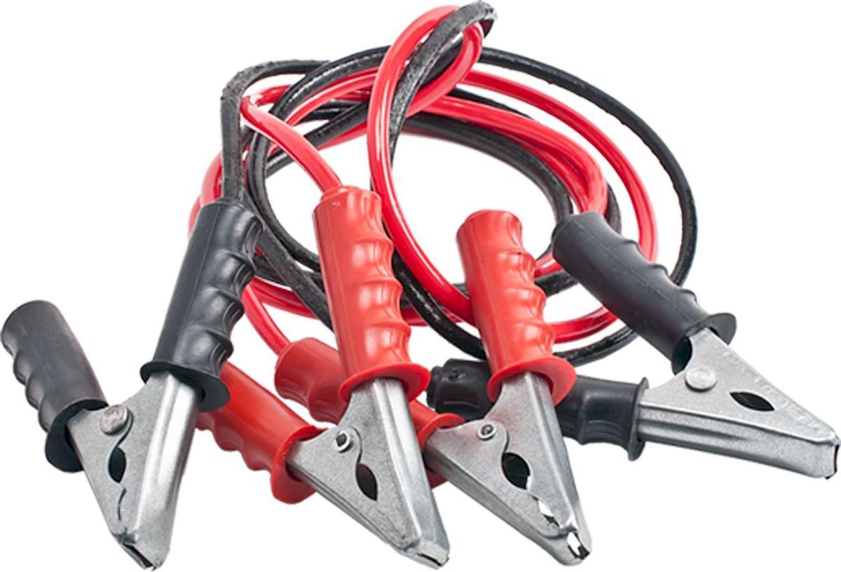 Провода пусковые Главдор, 350А, 2 м. GL-427GL-427Стартовые провода Главдор, выполненные из меди в черно-красной обмотке, предназначены для соединения одноименных клемм аккумуляторов автомобилей для того, чтобы осуществить дополнительную подпитку стартера в автомобиле с разряженной аккумуляторной батареей или загустевшим от мороза маслом. Применяются для запуска двигателей легковых и грузовых автомобилей при низкой температуре воздуха в холодное время года, а также после длительного хранения автомобиля, вызвавшего саморазряд аккумуляторной батареи. Особенности пусковых проводов: - морозостойкий эластичный кабель в резиновой изоляции, - многожильный медный проводник, - полностью изолированные зажимы, - надежные пропаянные соединения провода с зажимами. Температура эксплуатации -50 - +80°С. Длина: 2 м. Напряжение: 350А.