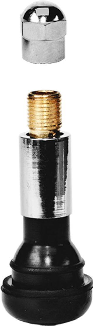 Вентиль для бескамерных шин Главдор, 14, цвет: серебристый, черный, 4 штGL-60Эластичная структура вентилей, изготовленных из резины и хромированного металла, обеспечивает полную герметизацию и беспрепятственную подачу воздуха в момент накачки колеса и проверки давления даже при сильном изгибе вентиля. В комплекте 4 шт.