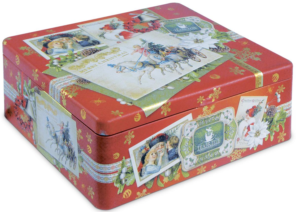 Teabreeze С Рождеством! Новогодний подарочный набор чая, 100 г4620009891698Новогодний подарочный набор чайная шкатулка С Рождеством. Чай Волшебная ночь: Основу чая составляет смесь из цейлонского черного чая и китайского зеленого чая Сенча. К ним добавлены лепестки розы и подсолнечника, плоды шиповника, ароматные кусочки папайи, а также натуральные масла дыни, земляники, абрикоса и душистой смородины. Бархатный вкус и пленительный фруктовый аромат этого чая напоминают о купающихся в душистых сумерках южных садах. Чай Очарование востока: Этот чай заключает в себе все тайны Востока и сказки чаровницы Шахерезады. Смесь из черных и зеленых чаев, главными нотами которой являются ароматы лепестков розы и жасмина, мягко погружает вас в негу и абсолютное душевное спокойствие. В состав чая также входят календула и сафлор, словно для того, чтобы найти в себе силы очнуться от умиротворяющего воздействия этого удивительного чая. Подарите себе истинное наслаждение! Ситечко-ложка в виде сердца из нержавеющей стали. ...