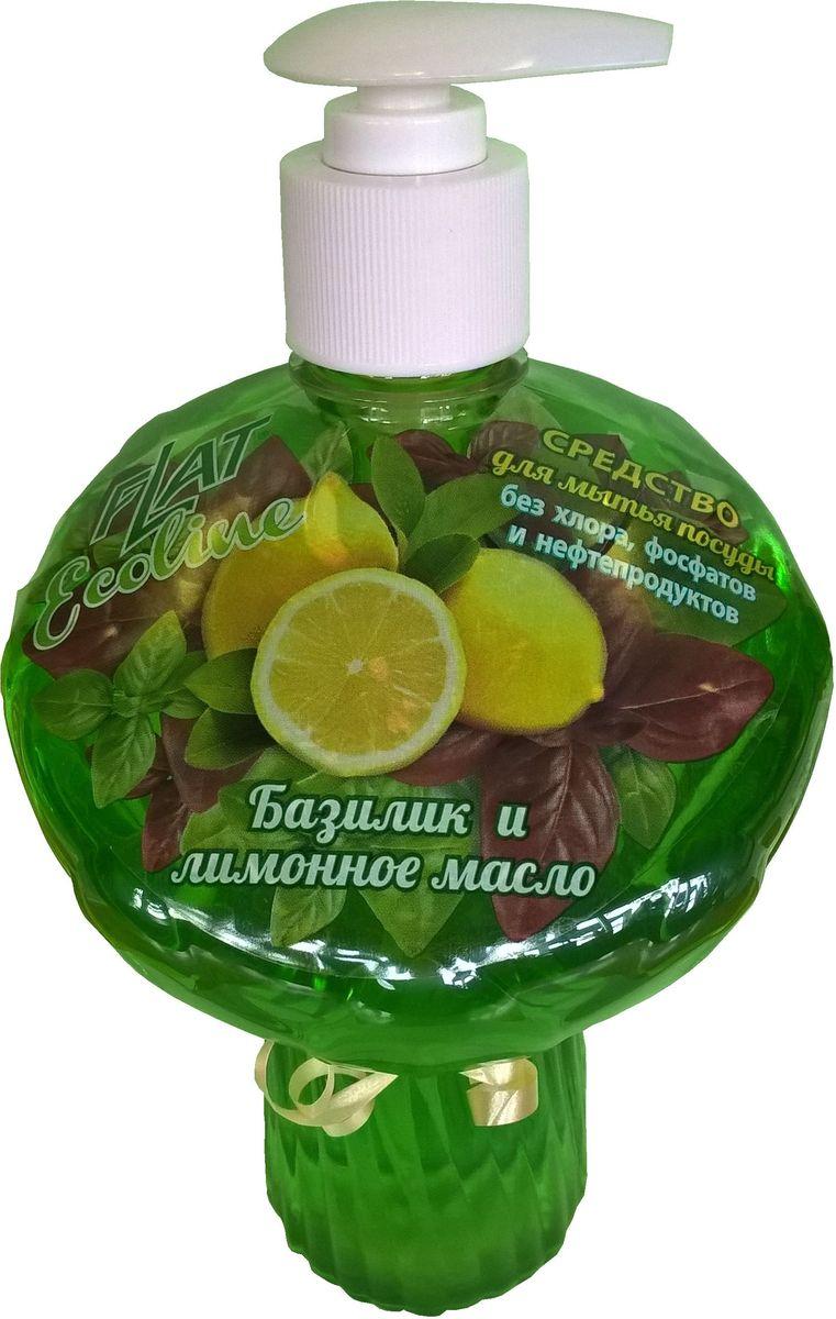 Гель для мытья посуды Flat Ecoline, базилик и лимонное масло, 750 мл4600296002830Гель для посуды ECOLINE прекрасно моет посуду в воде любой жесткости и температуры, растворчяет жиры, не оставляет разводов и пятен, не раздражает кожу рук